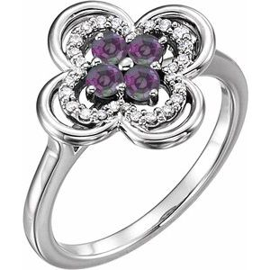 Alexandrite Floral Ring