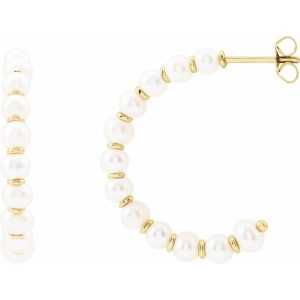Freshwater Culture Pearl Hoop Earrings
