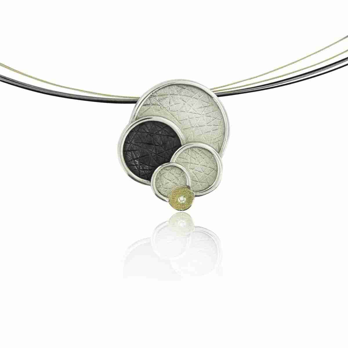 Sterling Silver Multi-Circle Pendant