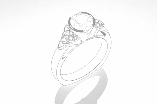 Custom Celtic Engagement Ring Sketch