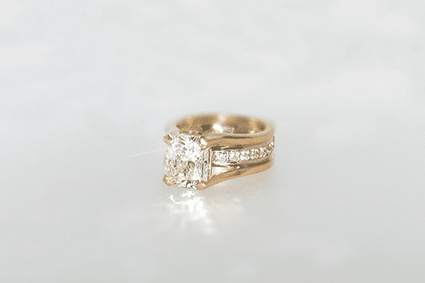 Custom Restyles Two-tone Engagement Ring Final