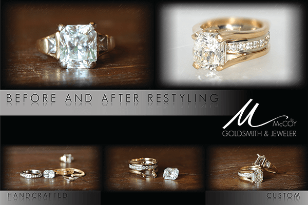 Custom Restyles Two-tone Engagement Ring Steps