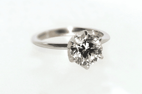 Custom Six Prong Floral Engagement Ring Final