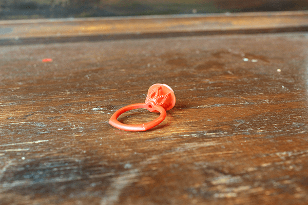 Custom Six Prong Floral Engagement Ring Wax