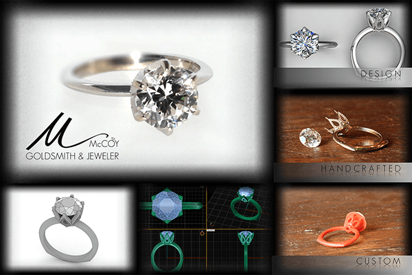 Custom Six Prong Floral Engagement Ring Steps