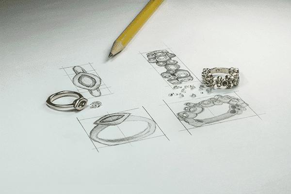 Sketch of McCoy Custom Rings