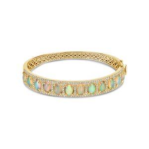 Opal & Diamond Bangle