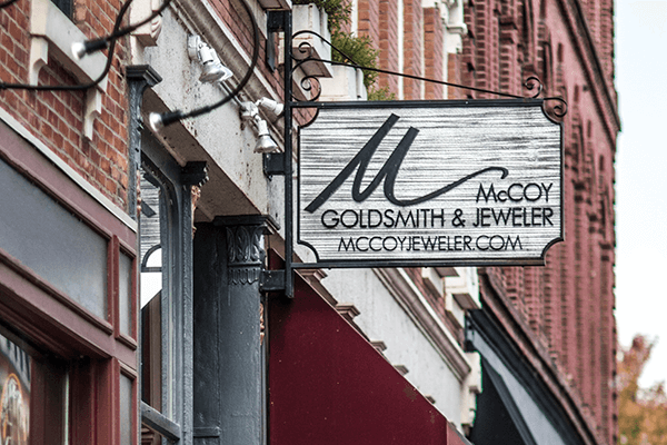 McCoy Jeweler Sign