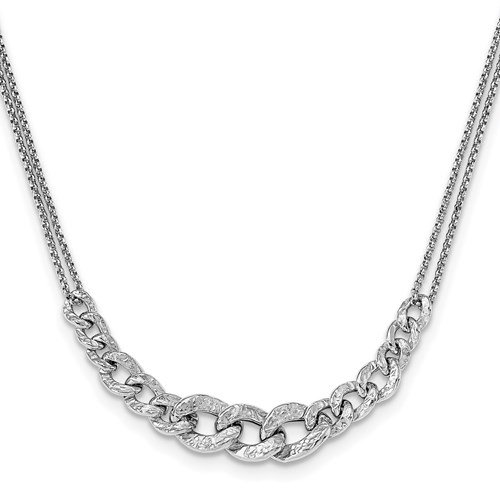 Sterling Silver Textured Necklace
